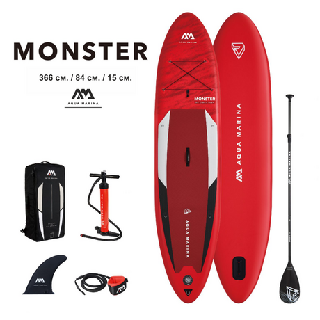 Надуваем SUP Aqua Marina Monster 12`0""